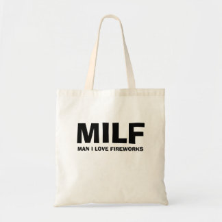MILF - ONE I LOVE FIREWORKS TOTE BAG