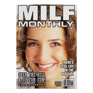MILF Personalised Magazine Cover Poster