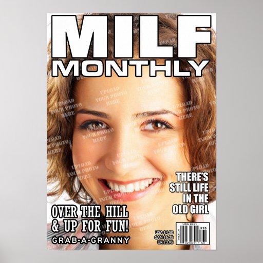 MILF Personalized Magazine Cover Print