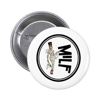 MILF Retro Mummy Pinup Girl 6 Cm Round Badge