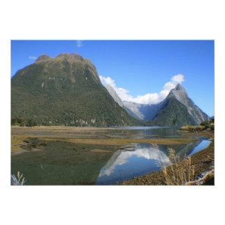 Milford Sound Bay Mitre Peak New Zealand Invites
