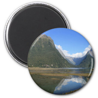 Milford Sound Bay, Mitre Peak, New Zealand Magnet