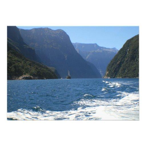 Milford Sound, New Zealand Custom Invitations