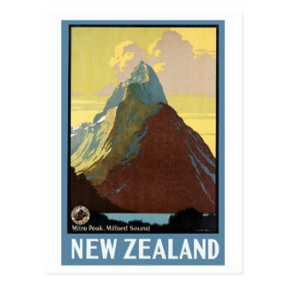 Milford Sound New Zealand Mountain Postcard