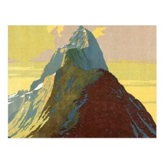 Milford Sound New Zealand Mountain Postcard