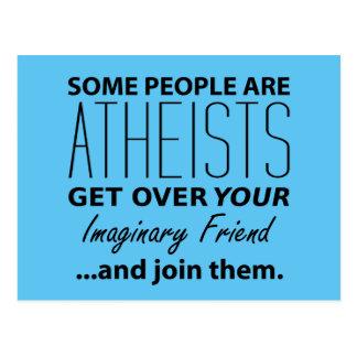 Militant Atheist: Some People Are Atheists! Postcard