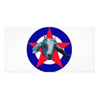 Militant Goat Photo Card