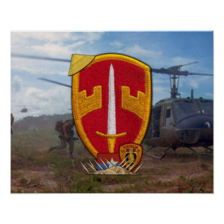 Military Advisors Vietnam War Patch Poster