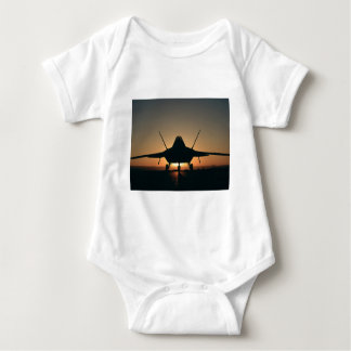 Military aircraft silhouette baby bodysuit