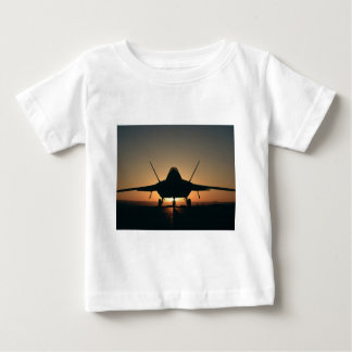 Military aircraft silhouette baby T-Shirt