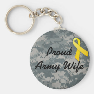 military army wife key ring