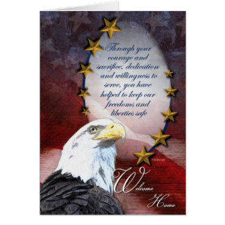 Military Bald Eagle Welcome Home Greeting Card Greeting Card