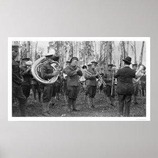 Military Band Alaska 1920 Print