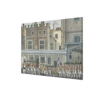 Military Band at St. James' Palace, late 18th cent Canvas Print