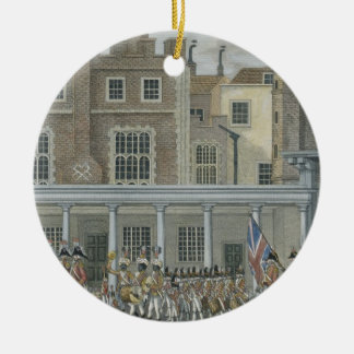 Military Band at St. James' Palace, late 18th cent Round Ceramic Decoration