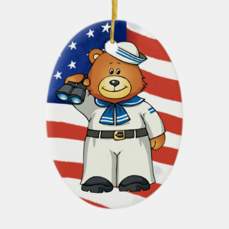Military Bears Christmas Ornament