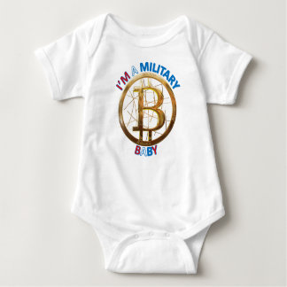 Military Bitcoin Baby Apparel Baby Bodysuit