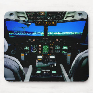 Military Bombardier Aircraft Cockpit Mouse Pad
