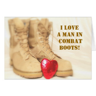 military boots card