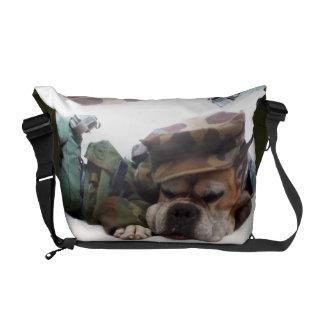 Military Boxer dog Rickshaw Zero Messenger Bag
