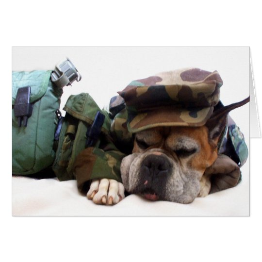 Military boxer greeting card