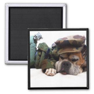 Military boxer magnet