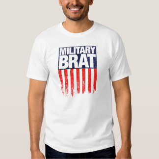 Military Brat with Weathered Flag Tshirts