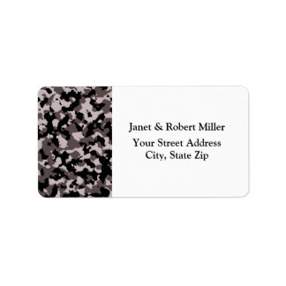 Military Brown Camouflage Pattern Address Label