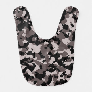 Military Brown Camouflage Pattern Baby Bib