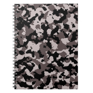 Military Brown Camouflage Pattern Notebooks