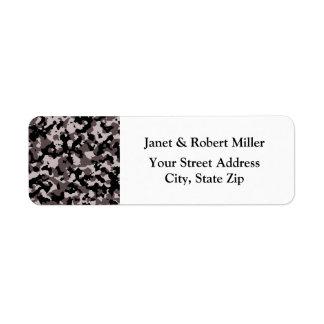 Military Brown Camouflage Pattern Return Address Label
