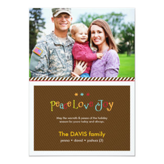 Military Brown Double Sided Holiday Photo Card 13 Cm X 18 Cm Invitation Card