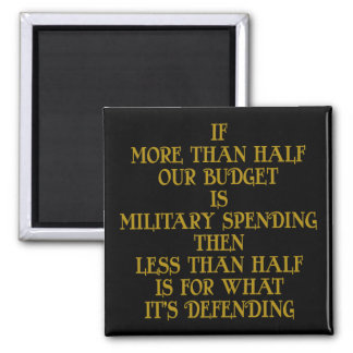 Military Budget Square Magnet