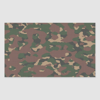 Military Camo 4 Soldiers, Patriots & Veterans Army Rectangular Stickers