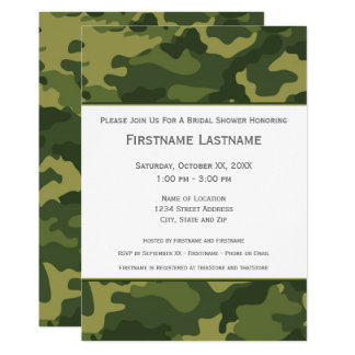 Military Camo Bridal Shower or Engagement Party Card