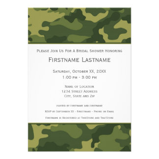 Military Camo Bridal Shower or Engagement Party Announcement