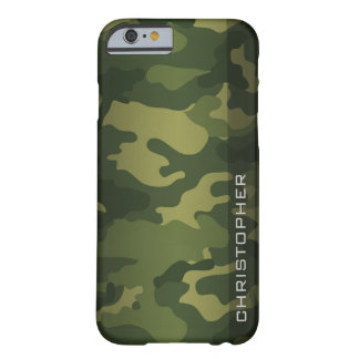 Military Camo Pattern Green with name Barely There iPhone 6 Case