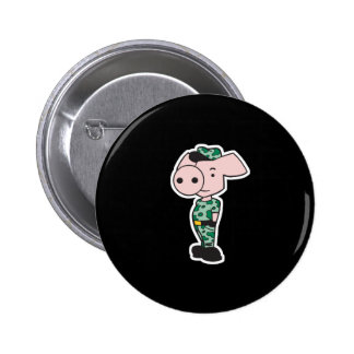 military camo pig 6 cm round badge