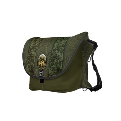 Military Camo Stripes with Army Insignia Commuter Bags