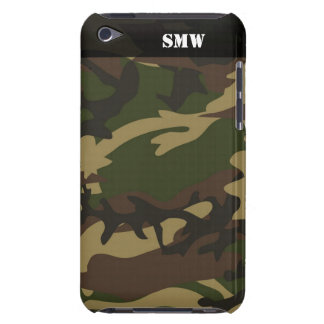 Military Camoflauge Camo Green Personalized Barely There iPod Cover