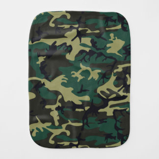 Military Camouflage Baby Burp Cloths