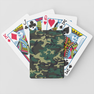 Military Camouflage Bicycle Playing Cards