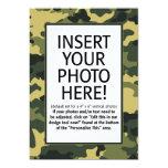 "military / camouflage - Birthday Invitation 5"" X 7"" Invitation Card"