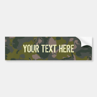 Military camouflage bumper sticker