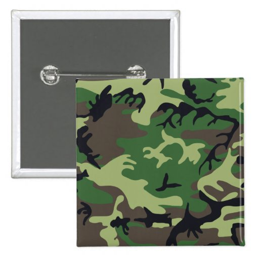 Military Camouflage Button