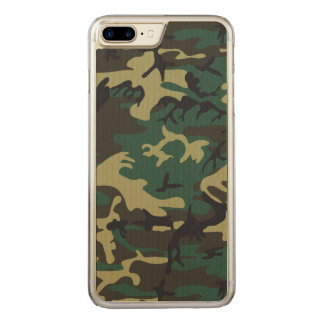 Military Camouflage Carved iPhone 8 Plus/7 Plus Case