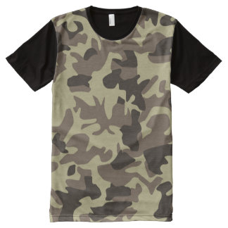 Military Camouflage Classic Camo Pattern All-Over Print T-Shirt