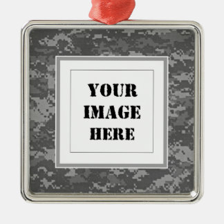 Military Camouflage Custom Photo Ornament