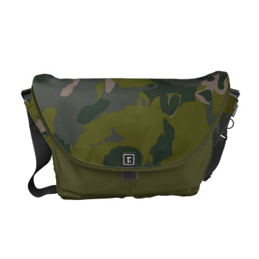 Military camouflage for army soldier Vietnam style Messenger Bags