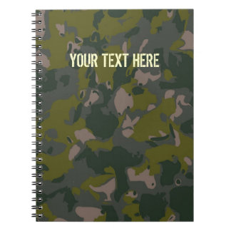 Military camouflage for army soldier Vietnam style Note Books